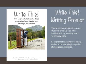 High School Writing Prompt, Creative (Man in Wardrobe)