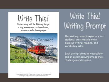 High School Writing Prompt, Creative (Mountain Train)