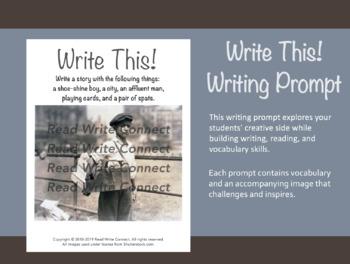 High School Writing Prompt, Creative (Shoe Shine Boy)