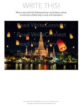 High School Writing Prompt, Creative (Sky Lanterns)