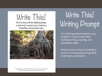 High School Writing Prompt, Creative (Tree and Ruins)