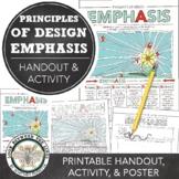 Emphasis, Principles of Design Worksheet: Visual Art Activity