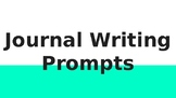 High School and Middle School Writing Prompts