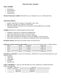 High School (or middle school) Maternity Plans Template