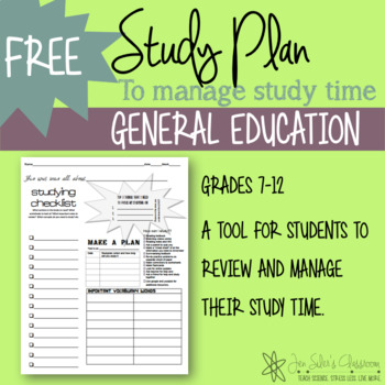 High School study plan