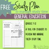 High School study plan