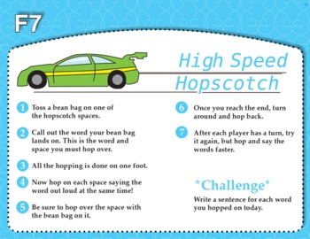 High Speed Hopscotch (Common Core RF 1.3G, RF 2.3F)