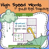 High Speed Words--First Grade High Frequency