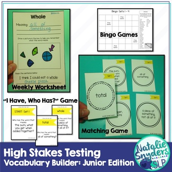 high stakes testing vocabulary builder junior edition 1st 4th grades