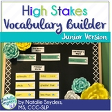 High Stakes Testing: Vocabulary Builder Junior Edition 1st