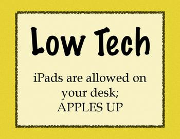 High Tech, Low Tech No Tech