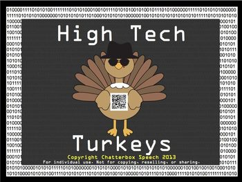 High Tech Turkeys: An Open-Ended QR Code Game for Speech Therapy