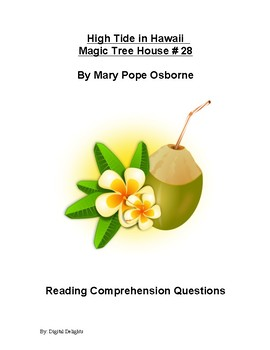 High Tide in Hawaii Magic Tree House #28 Reading Comprehension Questions