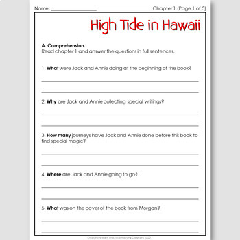 High Tide in Hawaii, an English Novel Study for Korean Students