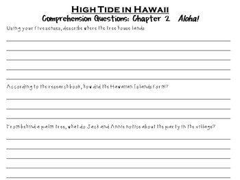 High Tide in Hawaii by Mary Pope Osborne:  A Complete Literature Study!