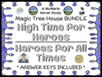 High Time for Heroes | Heroes for All Times : Magic Tree House BUNDLE (68 pages)