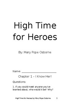 High Time for Heroes student packet