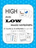High and Low Visuals & Worksheets