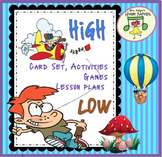 Card Set for Music, K-2nd: High-Low Cards and Activities