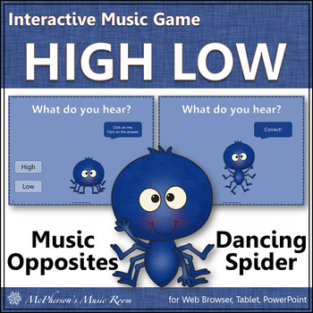 High and Low Dancing Spider {Interactive Music Game}