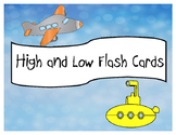 High and Low Flash Cards