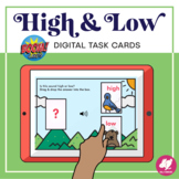 Music Distance Learning: High and Low Sounds - Music BOOM Cards