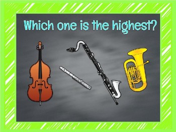 High and Low Sounds for Music Class Slide Show