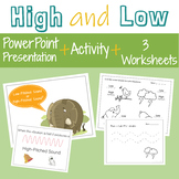 High and Low Music Worksheets and PowerPoint Presentation