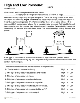 Air Pressure - High and Low Pressure Introduction and Map Review.