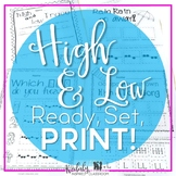 High and Low {Ready Set Print!}