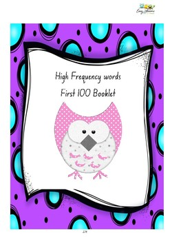 High frequency - 100 words Booklet - My 100 Word Book
