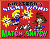 High-frequency Word Activity: Sight Word SNATCH & MATCH 1st GRADE UNIT 1, Week 1