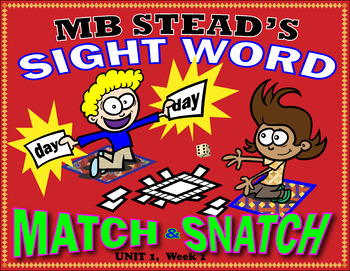 High-frequency Word Activity: Sight Word SNATCH & MATCH 1st GRADE UNIT 1, Week 1