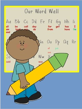High-frequency Words for the Word Wall