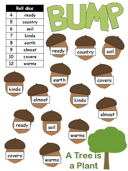 High frequency word BUMP Journeys Unit 5