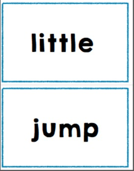High frequency word cards (Pre-K)