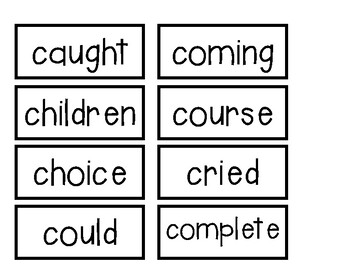 High frequency word wall cards