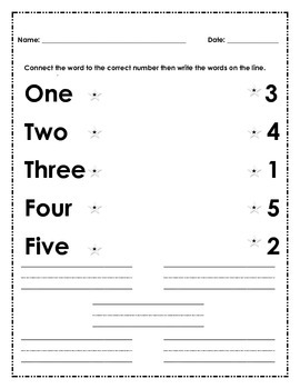 Reading, High-frequency-words, Sight-words, one two three four five, numbers