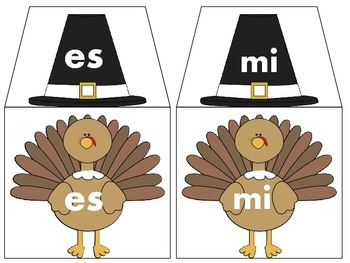High frequency words, vocabulary, literacy stations, spanish