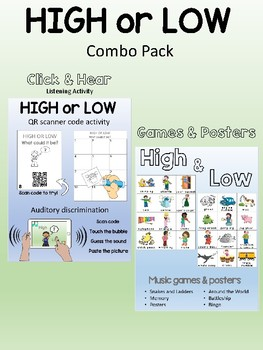 High or Low - Combo - Games, posters, QR codes, worksheets