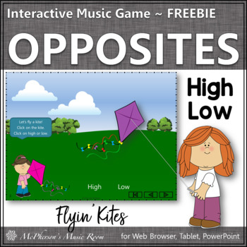 High or Low? Freebie - Interactive Melody Game (kites)