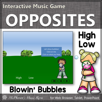 High or Low! Interactive Music Game (bubbles)