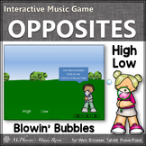 Spring Music Game: High Low Interactive Music Game {bubbles}