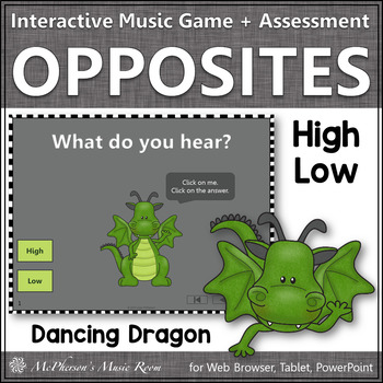 High or Low Interactive Music Game + Assessment {Dancing Dragon}