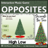 Christmas Music Game: Melodic Direction High Low {Interactive} Decorate the Tree