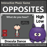 Fall Music Game ~ Melodic Direction High Low Interactive Music Game {Dracula}