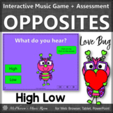 Valentine's Day Music: High Low Interactive Music Game & Assessment {Love Bug}