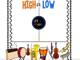 High or Low? Musical Instrument Flip Chart