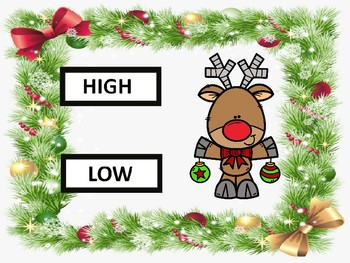 High or Low Reindeer