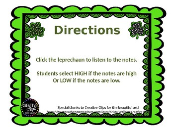 High or Low St. Patrick's Day Leprechauns